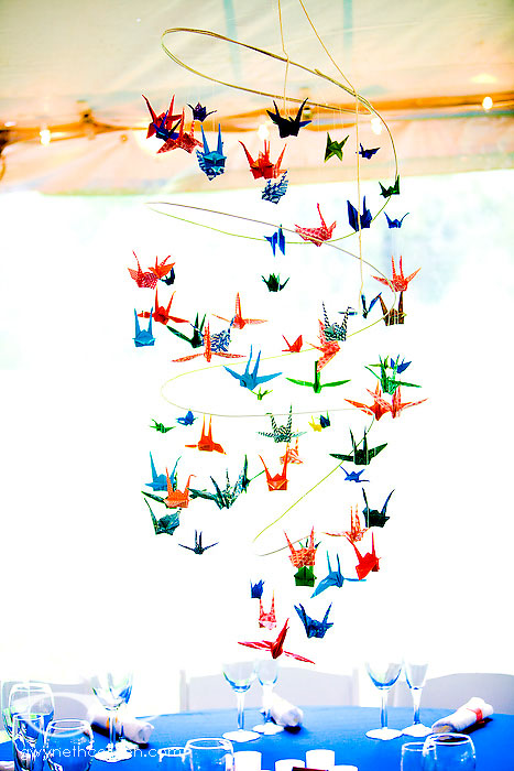 Flying Origami Cranes