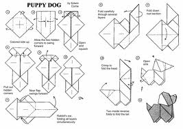 Simple Dog Origami Diagrams
