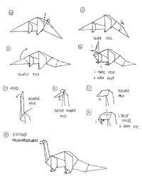 Rawr! Origami Dinosaur Instructions