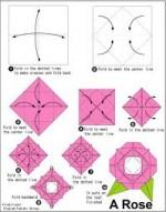 Original Origami Flower Diagrams