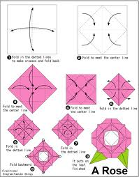 Original Origami Flower Diagrams