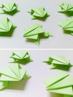 Very Simple Origami Frogs