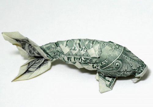 Fish Origami Money