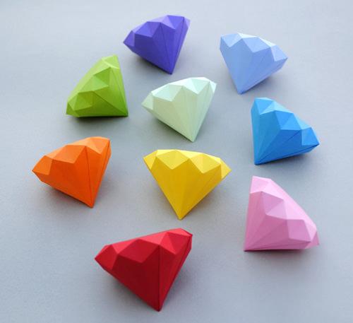 Diamond Origami Paper Craft