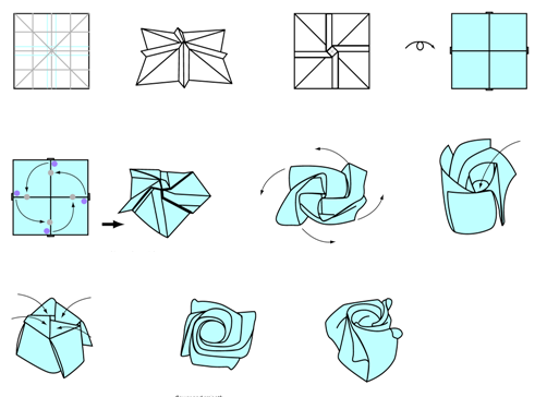 Origami Lily Instructions Printable