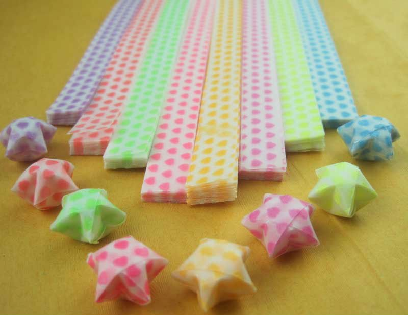 Heart Origami Star Paper