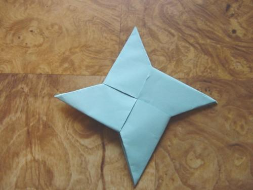 how to make a paper throwing star step by step