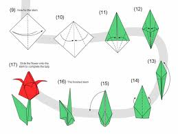 Nice Simple Origami Tulip Instructions