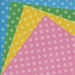 Polka Dot Patterned Origami Paper