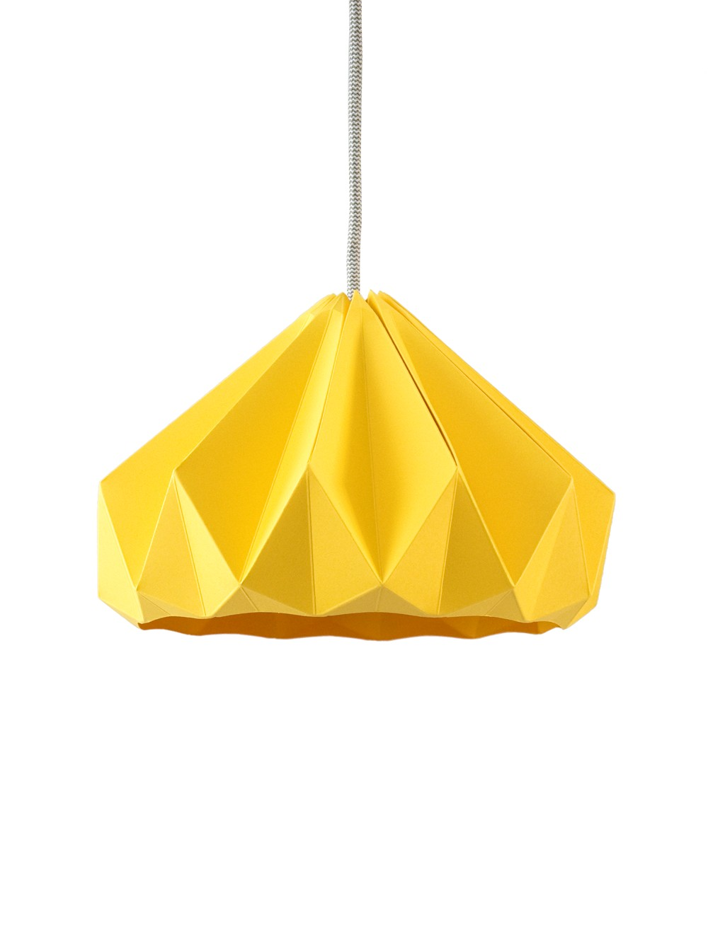 Hanging Yellow Origami Paper
