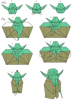 Lets Try Yoda Origami Instructions