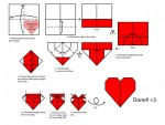 Simple Heart Love Shape Origami