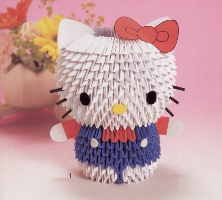 Hello Kitty 3D Origami Paper