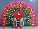 Pleasing 3D Origami Peacock