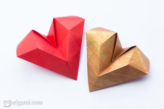 Appealing 3d origami heart