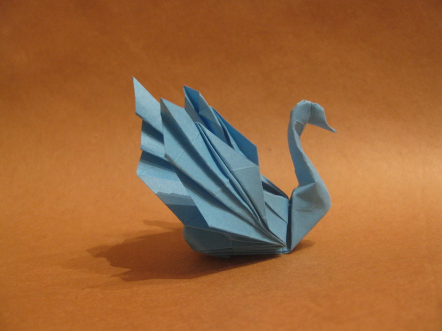 origami 3d swan instructions step by step