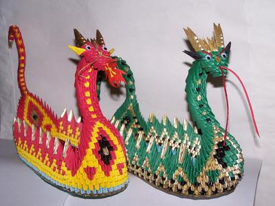 Dragon Boat Origami 3D