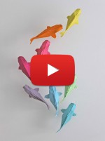 Colorful Origami Koi Fish