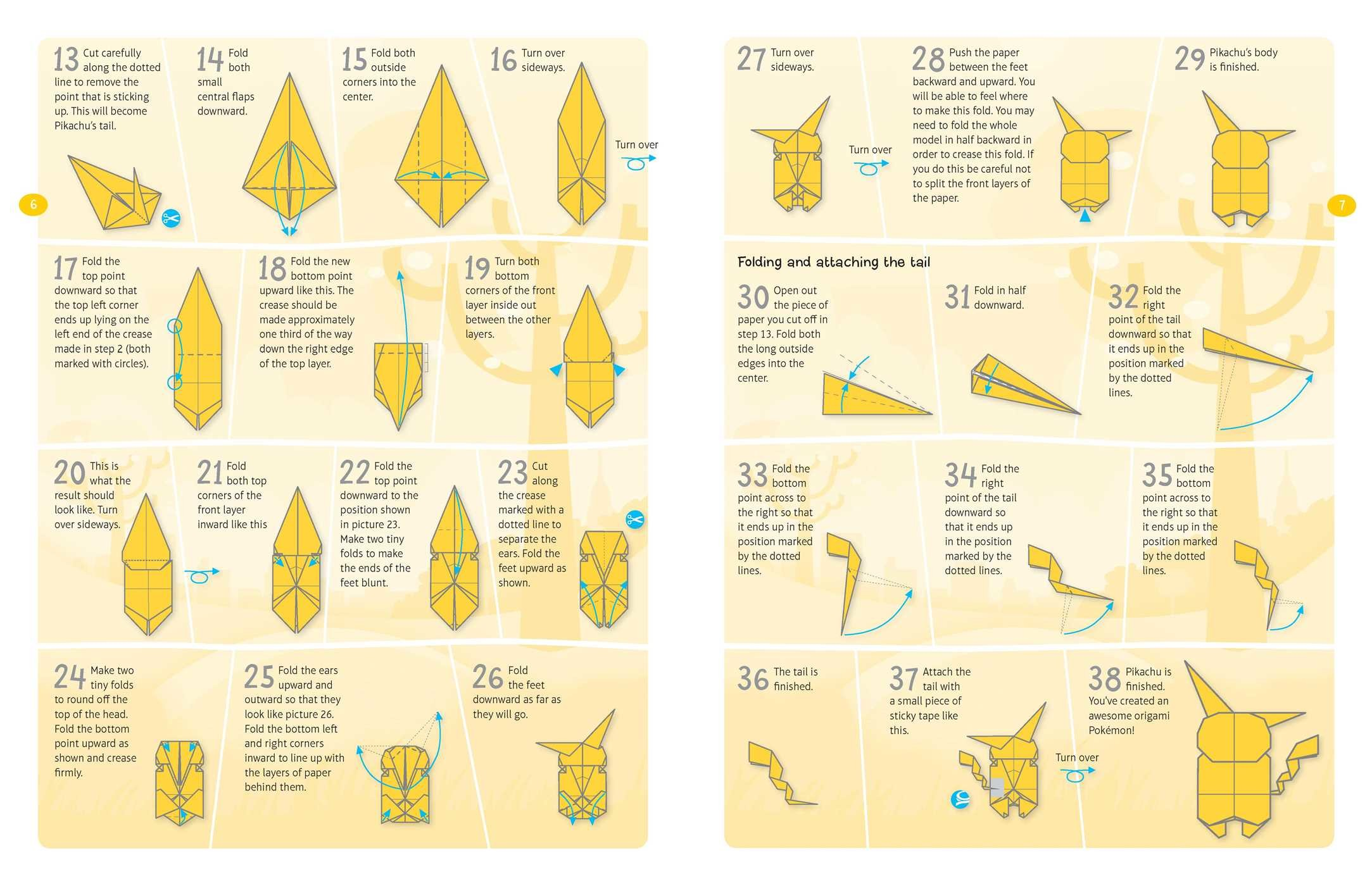 Nice Pokemon Origami Instructions