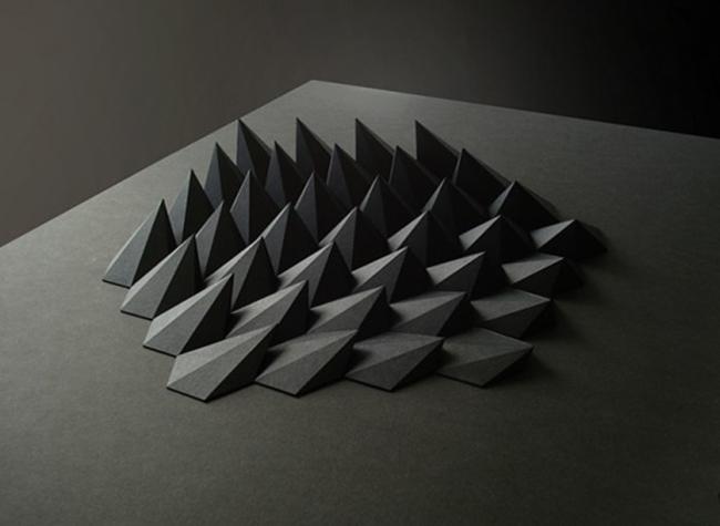 Elegant black origami paper