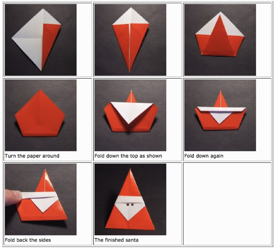 Gorgeous christmas origami