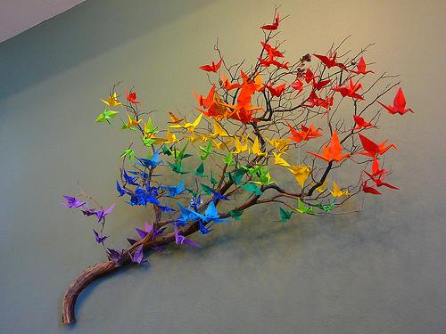 Designer crane origami