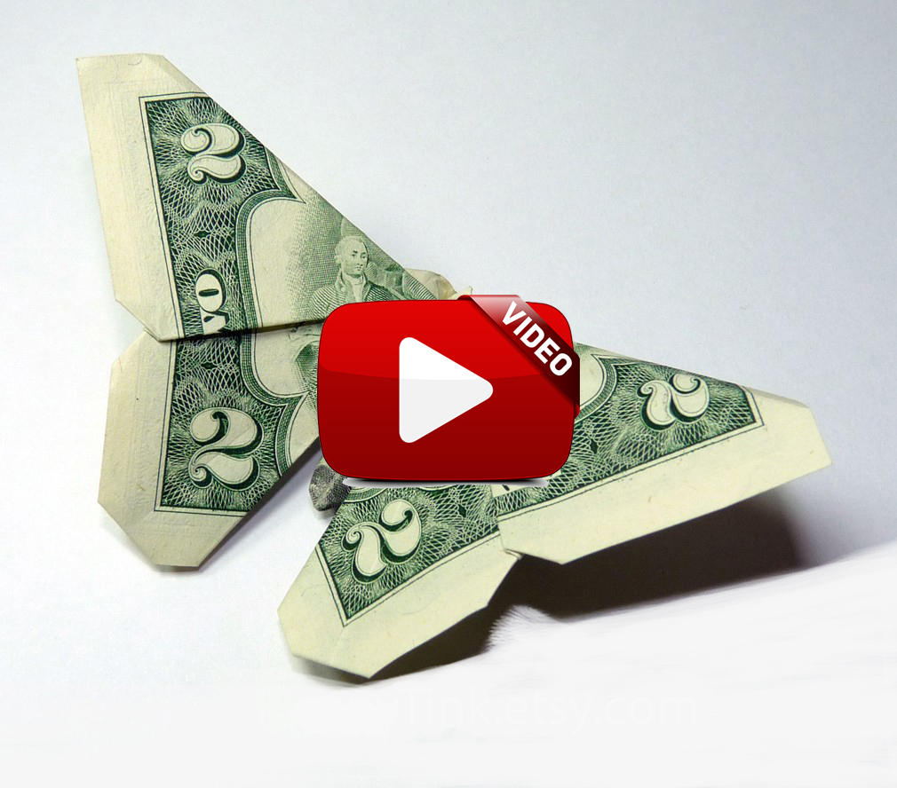 Origami dollar bill butterfly