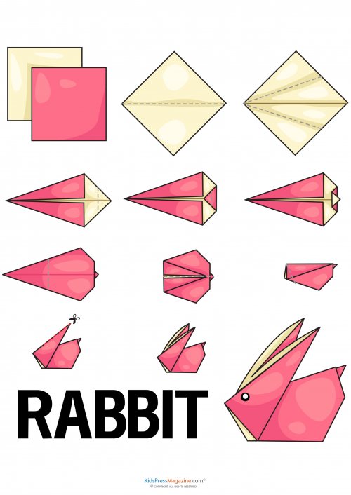 Rabbit easy origami animals