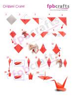 Splendid easy origami crane