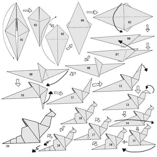 Admirable easy origami dragon
