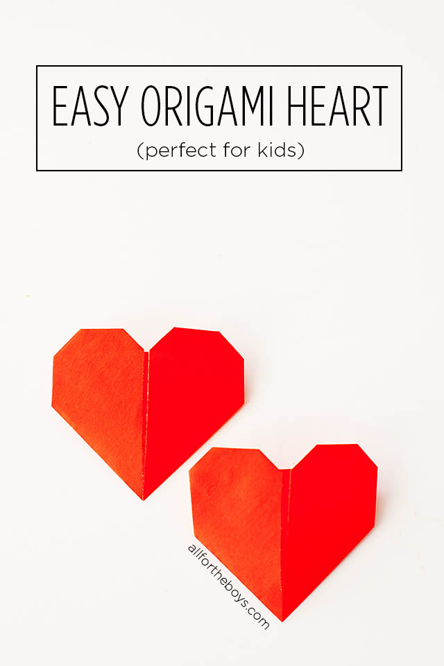 Sweet easy origami heart