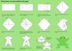 Cool frog origami