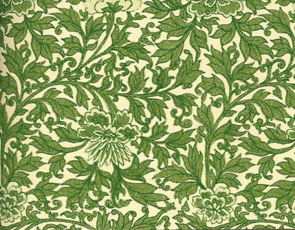 Leafy green origami paper