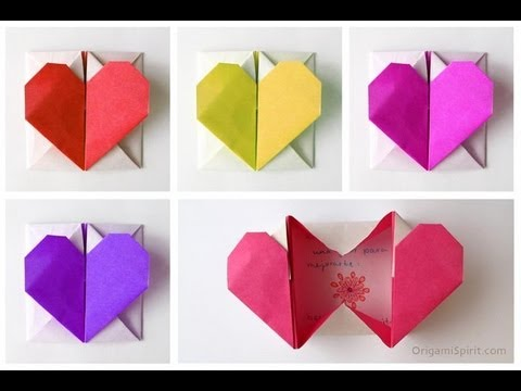 Ravishing heart box origami