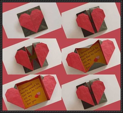 Admirable heart origami