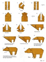 How to make a bear origami