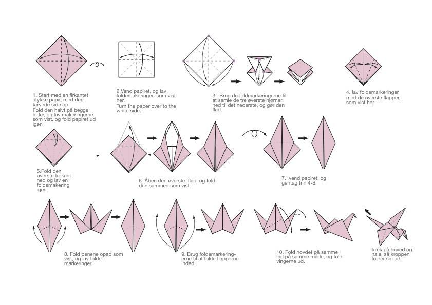 Easy how to make a origami crane