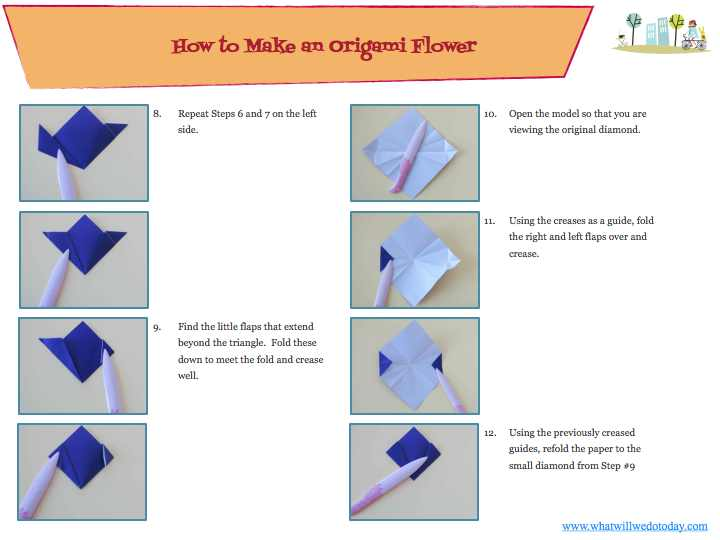 This is how to make a origami flower