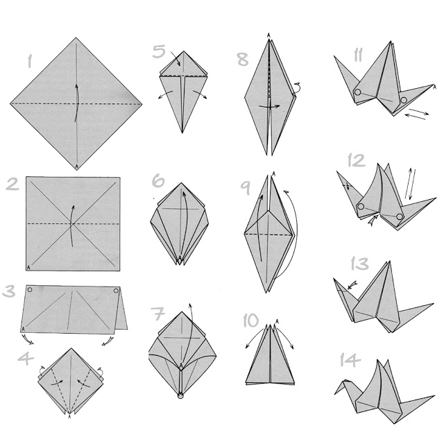 So, how to make an origami bird