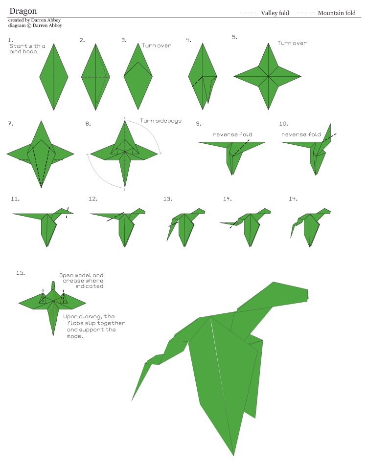 So, how to make an origami dragon
