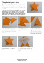 Easy how to make an origami star