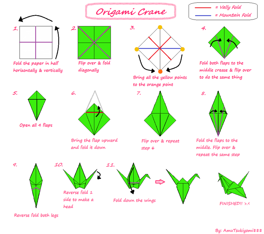 Get how to make origami birds
