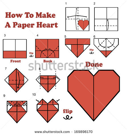 Some how to make origami hearts