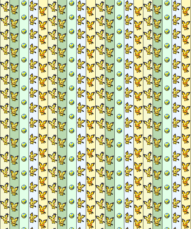 Pikachu lucky star origami paper