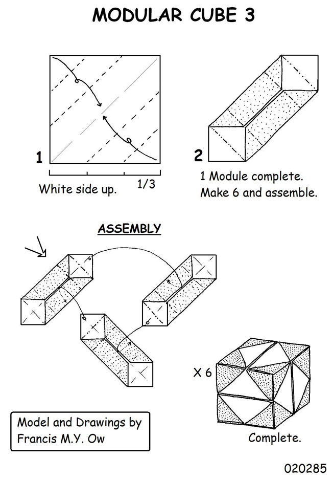 cube modular origami diagrams 2018