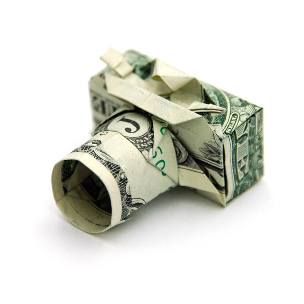 Camera money origami