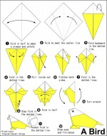 Short origami bird instructions