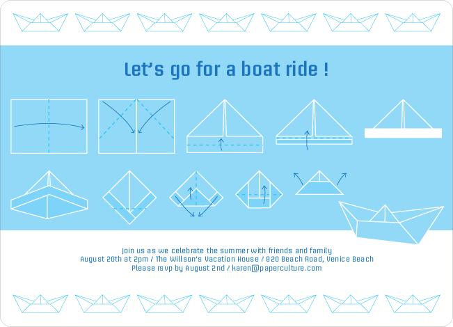 Radiant origami boat