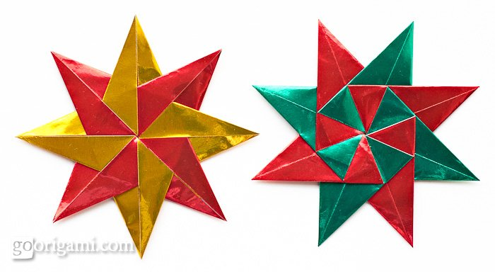 Ideal origami christmas ornaments