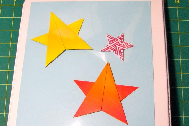2d origami christmas star